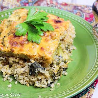 Cheesy Broccoli and Quinoa Casserole with Kale.