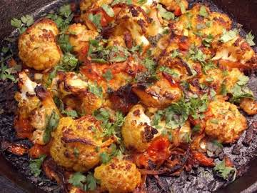 Moroccan Spiced Roasted Cauliflower