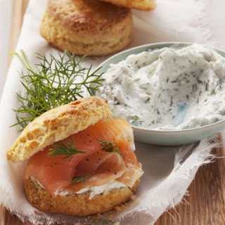 Soft Cheese Scones with Smoked Fish