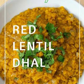 Healthy Red Lentil Dhal.