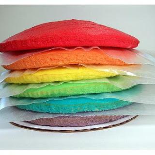 Almond Rainbow Cake.