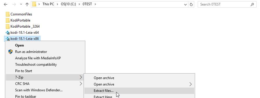 Extract installer files...