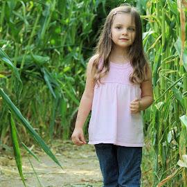 In the cornfield by Yamin Tedja - Babies & Children Child Portraits ( children, portrait, girl, cute, child )
