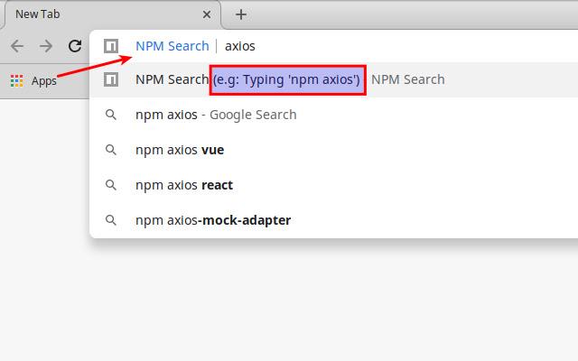 NPM Search & Update
