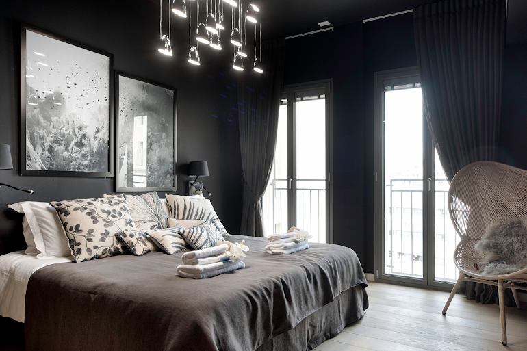 Luxury bedroom at Mamilla