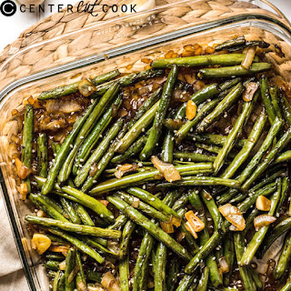 Pan Roasted Green Beans with Garlic Sauce.