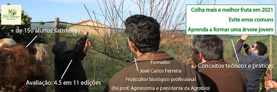 Poda em Árvores de Fruto – 5 Dez 2020 (Curso Básico 12ª edição) e 16 Jan 2021 (Curso Avançado 5ª edição)