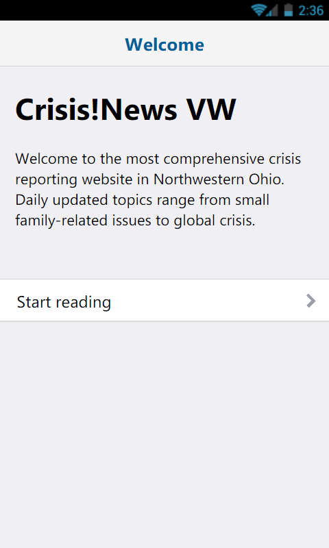 Van Wert Crisis News- screenshot