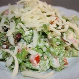 Fitness Salad With Tuna For Dinner.