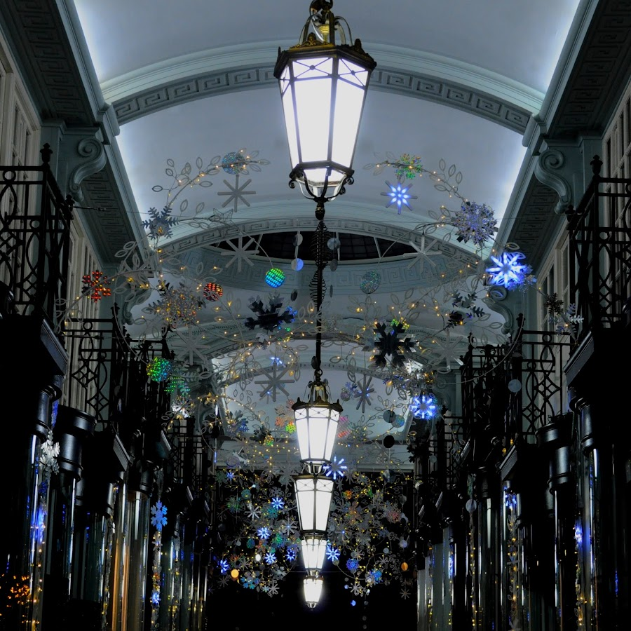 Stars and Skylights by DJ Cockburn - Public Holidays Christmas ( london, britain, shop, wrought iron, winter, holiday, balcony, building, retail, interior, uk, railing, dark, season, decoration, architecture, shopping, england, ceiling, electric light, piccadilly arcade, business, illumination, star, festival, night, display, lamp, skylight, arcade, christmas )