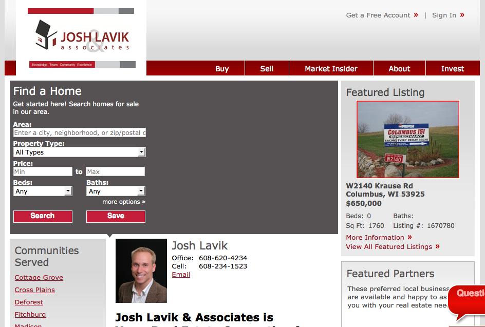 josh lavik homepage