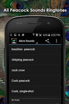 Peacock sounds and ringtones for android apk download.