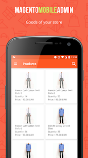 Magento Mobile Admin - náhled