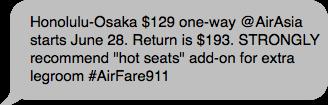 #Airfare911 Direct