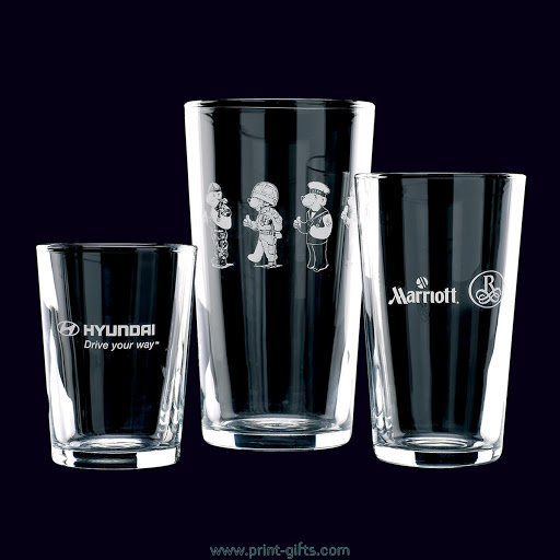 Printed or Engraved Straight Pint Glasses
