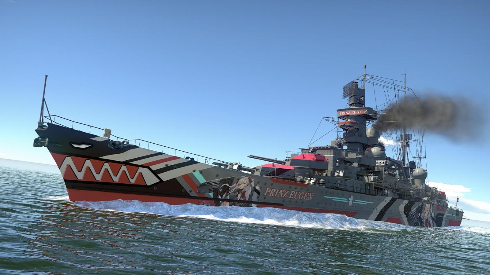 Prinz Eugen from Azur Lane War Thunder