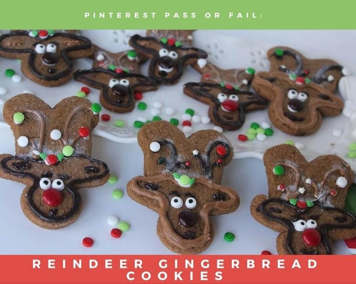Pinterest Pass Or Fail Reindeer Gingerbread Cookies Just A Pinch