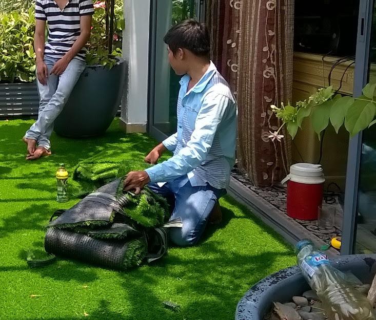 Pvc là cấu tạo chính của Thảm cỏ nhựa