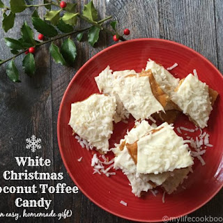 White Christmas Coconut Toffee Candy