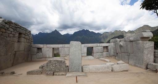 The Temple of the Three Windows at Machu Picchu, Peru.