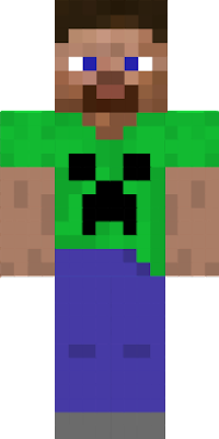 It is Steve but he is wearing a creeper shirt today😎