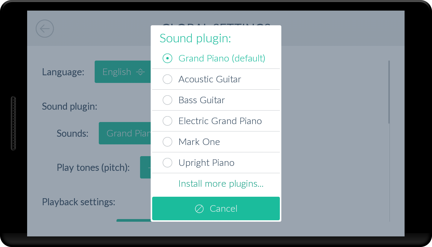 Viola *Plugin*- screenshot