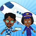Tizi Town Airport: My Airplane Games for Kids Free icon