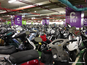 Photo: Where scooters rest