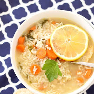 Leftover Turkey and Rice Soup.