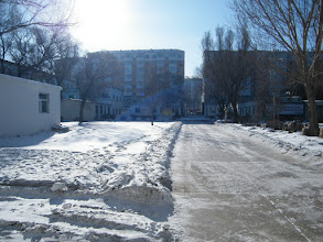 Photo: a peaceful noon after a frost night. here the QRRS Dorm in lunar 2015 winter.