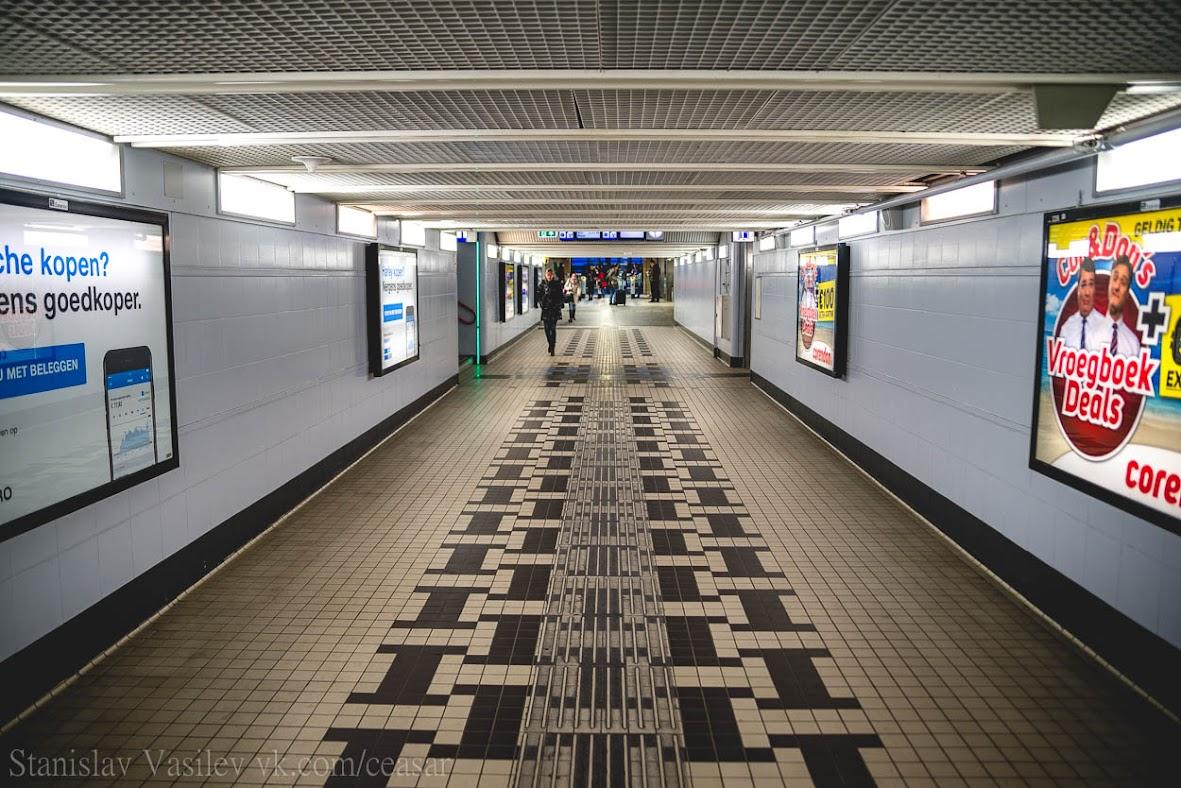 Тоннель от вокзала в город
