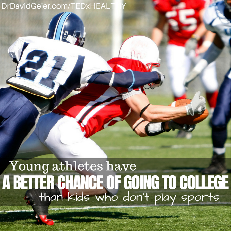 Athletes more likely to go to college