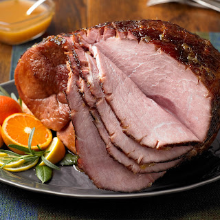 Spiced Grilled Ham with Citrus Glaze.