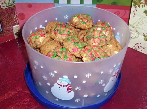 Oatmeal Cranberry-orange White Chocolate Cookies