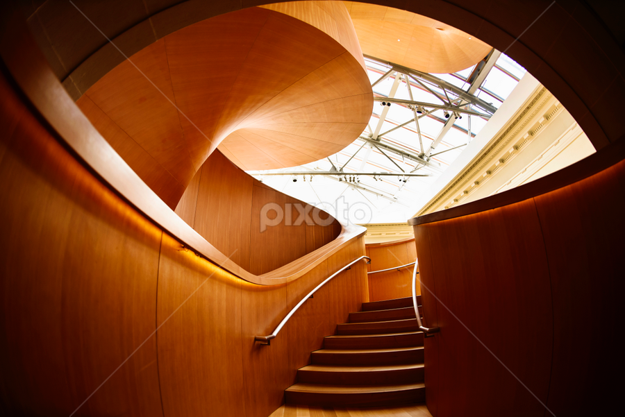 Spiral Stairs by Michael Gunawan - Buildings & Architecture Architectural Detail ( stair, canada, toronto, brown, ontario, spiral, ago )