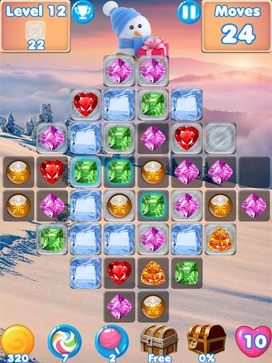 Snowman Swap - match 3 games New match 3 no wifi 1.0.7 Mod screenshots 5