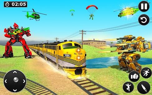 Futuristic Train Transforming Robot Games 4