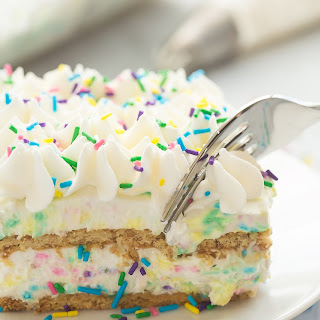 No Bake Funfetti Icebox Cake.