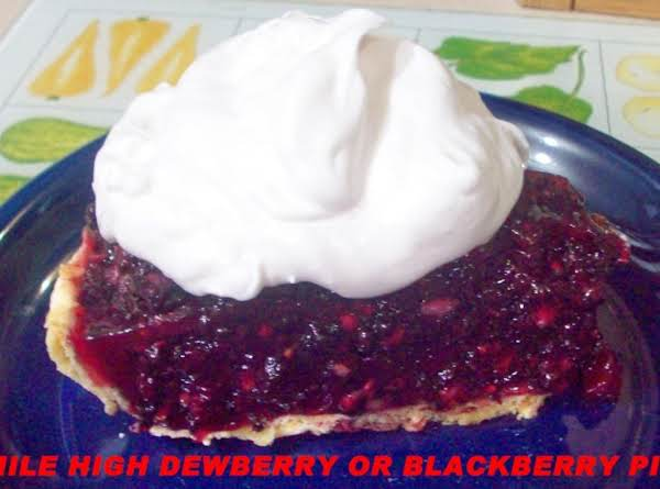 Mile High Dewberry Or Blackberry Pie Recipe