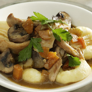 Gnocchi with Chicken and Mushrooms.