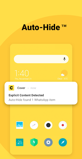 Photo Vault by Cover Auto-Hide™ Pictures & Videos screenshot 1
