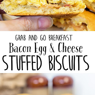 Bacon Egg and Cheese Stuffed Biscuits.