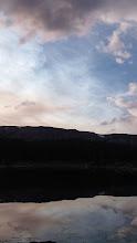 Photo: Beautiful sky over Flat Top Mountain