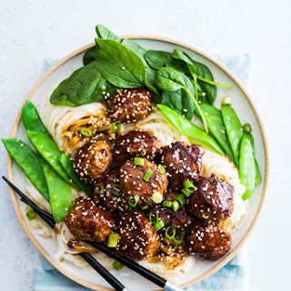 Asian Turkey Meatballs In Brown Sauce.