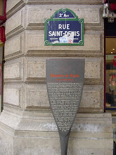 Photo: This modest sign on the Rue St-Denis marks the location of the Porte (gate) at this spot. Gates were few, and this one was on a main north-south route, and so was especially well defended.