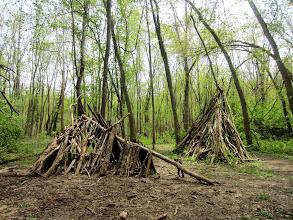 Photo: Teepees made from sticks at Wegerzyn Gardens in Dayton, Ohio.