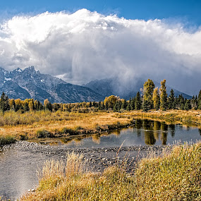 River to the Mountains by Richard Michael Lingo - Landscapes Waterscapes ( mountains, waterscapes, river, wyoming, landscape )