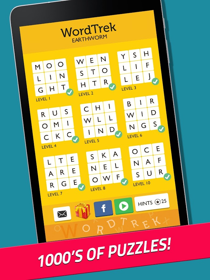 Word Trek - Word Brain streak - hand made puzzles- screenshot