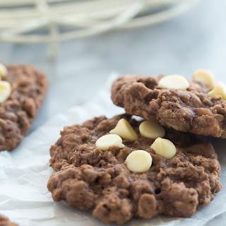 Chewy Double Chocolate Oatmeal Cookies.
