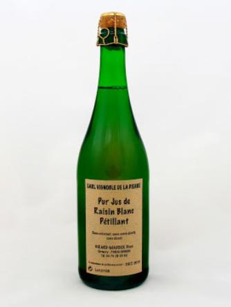 Pur Jus de Raisin Blanc Pétillant - Cépage Jacquère - Domaine Yves Girard-Madoux - Vignoble de la Pierre - Vin de Savoie - Chignin